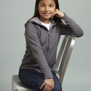 ATC™ PTECH® FLEECE HOODED GIRLS' JACKET Thumbnail